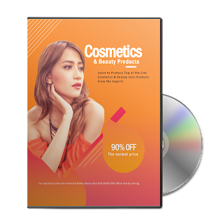 A detailed step by step ebook and video tutorial guides to make different types of cosmetics and beauty care products