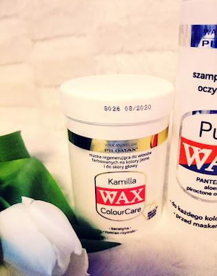 MASKA Kamilla do włosów jasnych i rozjaśnianych Wax Colour Care.