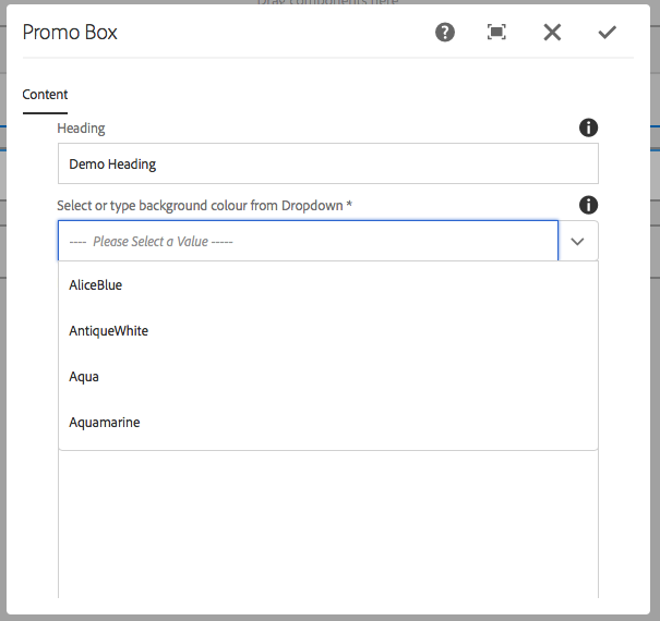 Search/Filter Touch UI Dialog Dropdown in AEM