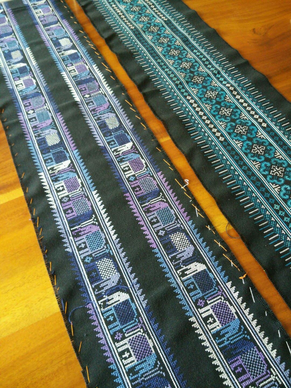 Lyn's Needlecase: Thai Cross Stitch Panels