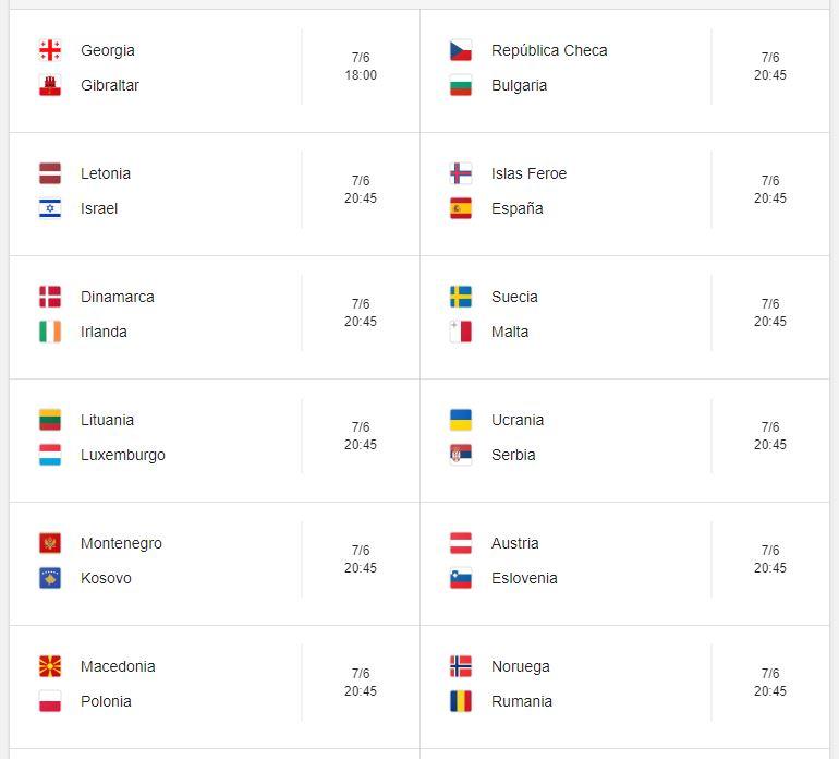 1 Calendario eliminatorias Eurocopa 2020 - 7 de junio 2019. Partidos de clasificación Eurocopa 2020. Juegos de las eliminatorias Eurocopa 2020. Partidos, fechas, hora, transmisiones eliminatorias Eurocopa 2020. Donde ver la Eurocopa 2020