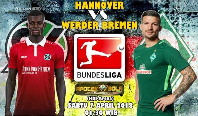 Prediksi Hannover 96 vs Werder Bremen 7 April 2018