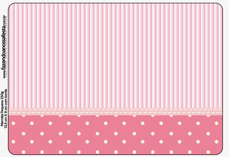 Rayas Y Lunares Blanco Y Rosa: Etiquetas Para Candy Bar