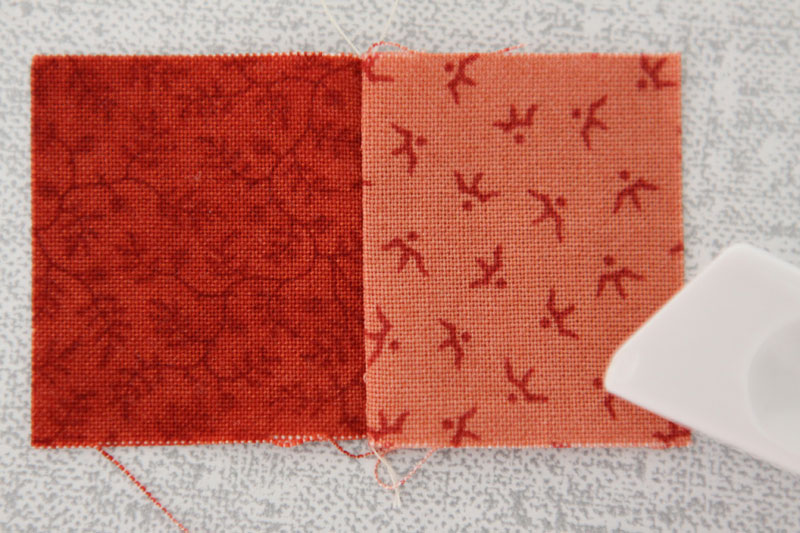 Two squares sewn