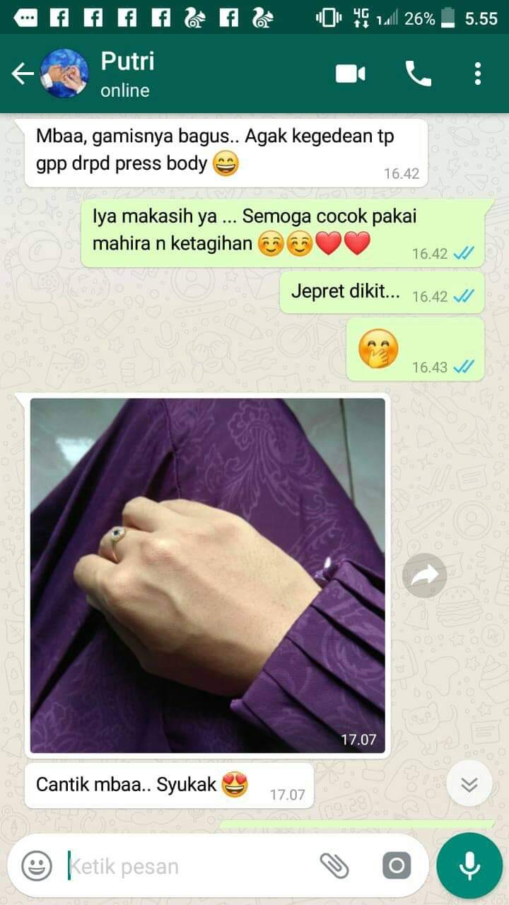 Testimoni Gamis Annaya Fursan Export Quality Formal