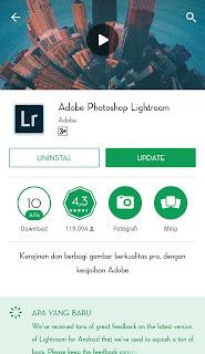 Adobe lightroom mobile adalah aplikasi yang dikembangkan oleh Adobe untuk versi smartphone
