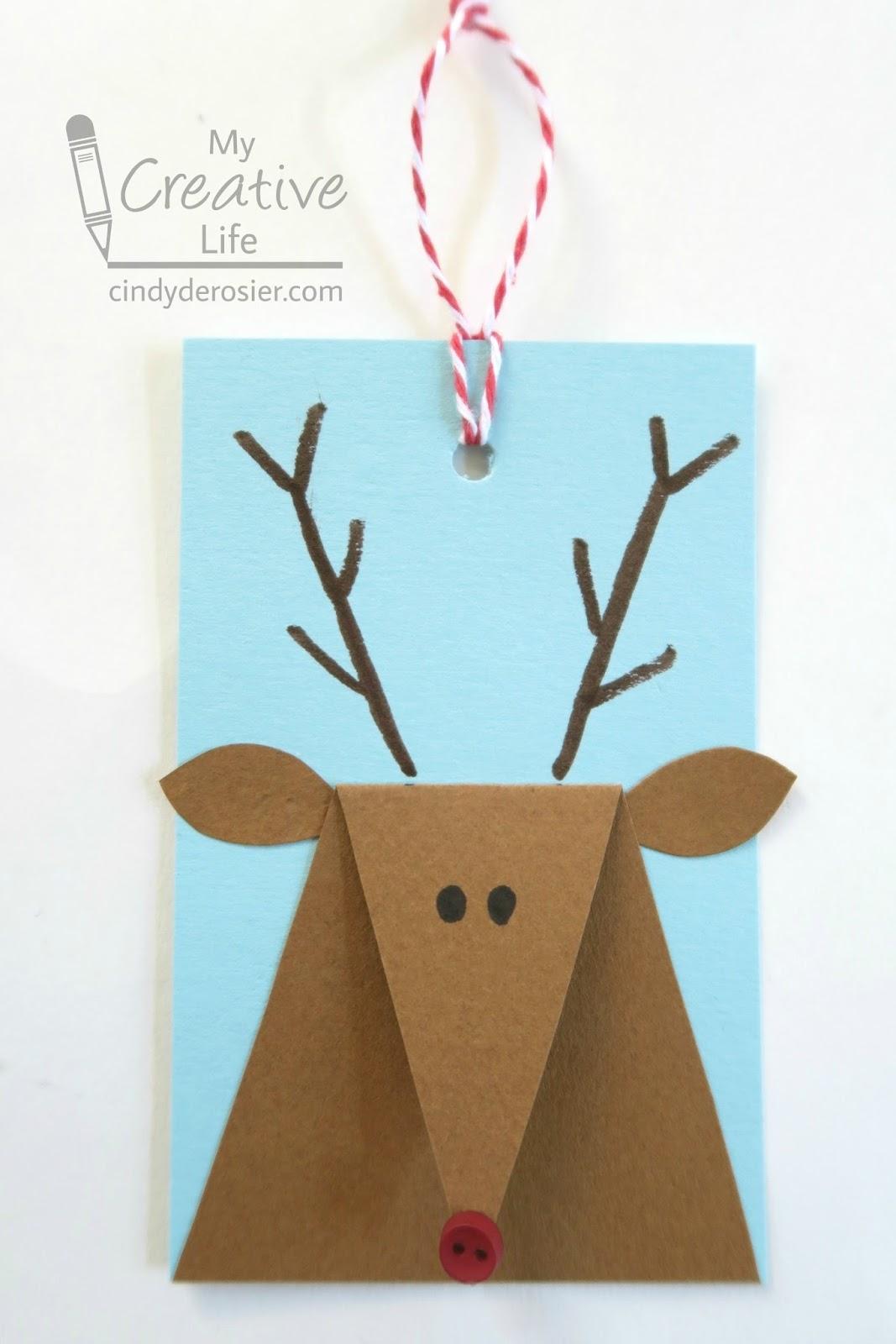 Cindy deRosier My Creative Life Reindeer Gift Tags