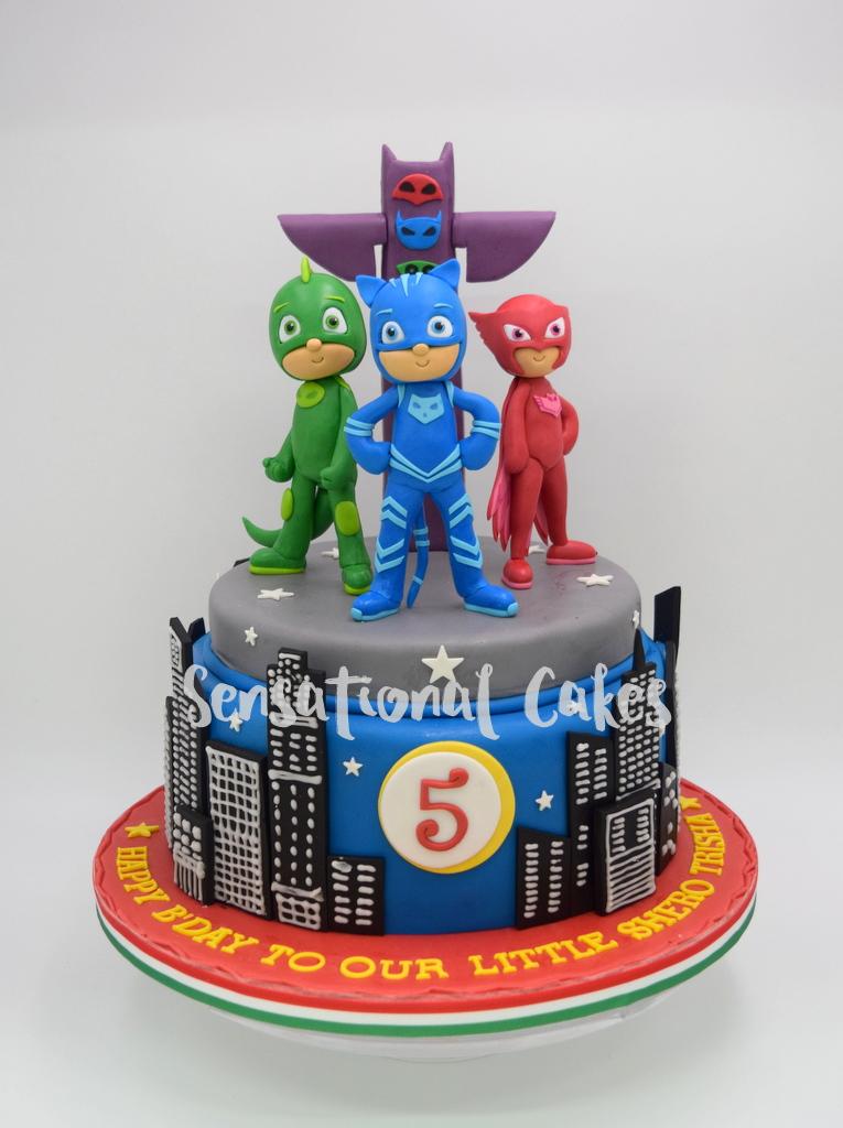 The Sensational Cakes Pj Mask Boy Birthday Theme Cake
