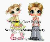 Winner at Scrapbook Stamp Society Challenge