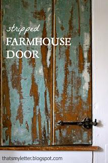stripped farmhouse door
