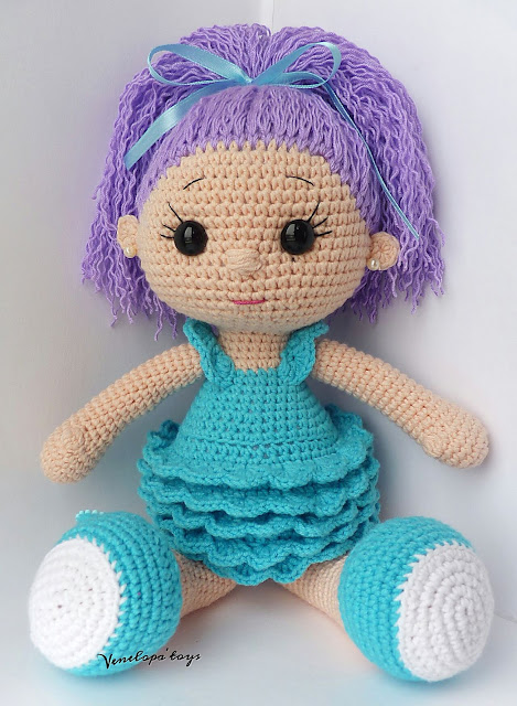 A big doll for a little girl. Made as a gift.
