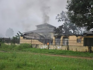 Rivers INEC Office Sets Ablaze 9 Days To Rerun, See Photos