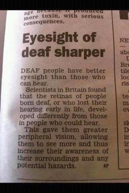 Eyesight of Deaf Sharper