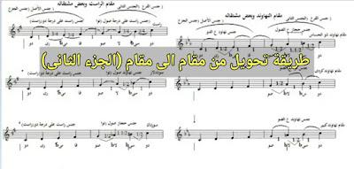 طريقة تحويل من مقام الى مقام (الجزء الثاني) من اعداد/محمد كريم حسين