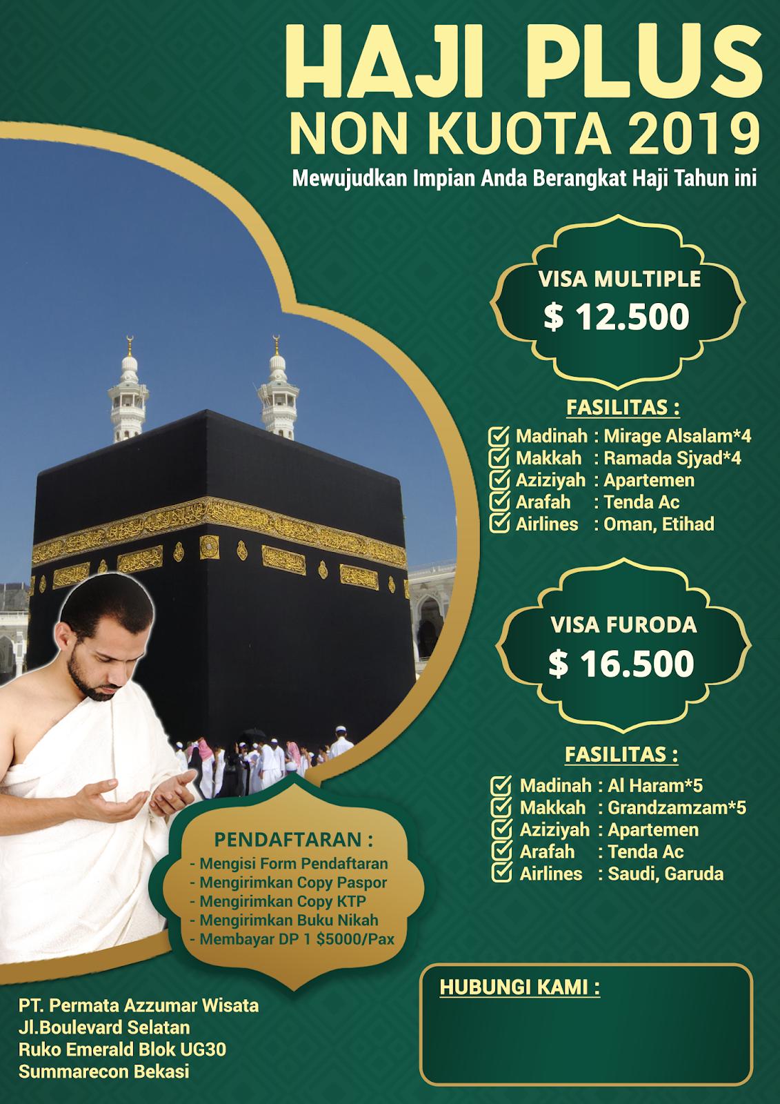Paket Haji Plus Langsung Berangkat Tahun 2019 Biaya Murah