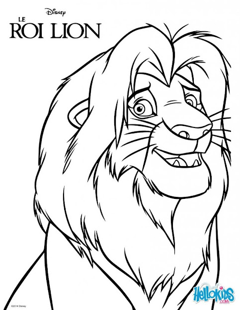 Coloring Page Marvelous Simba Coloring Pages The Lion King Page Lec Simba  Coloring Pages