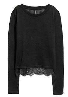h&m jumper with lace