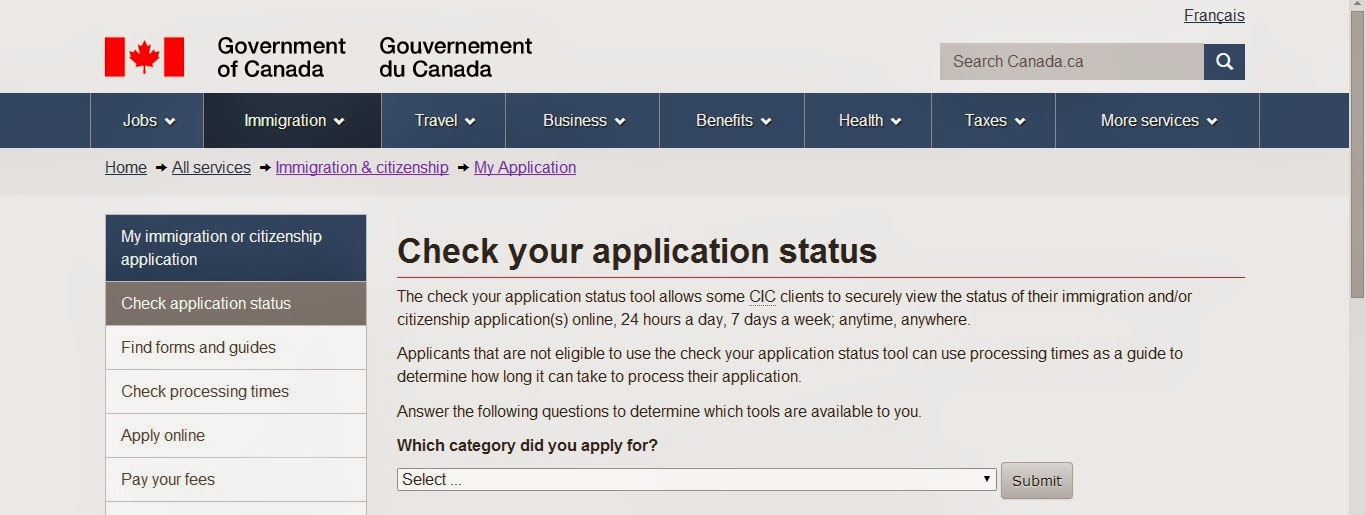 Check Your Application Status >> Me Moving To Canada How To Check The Application Status In Ecas For