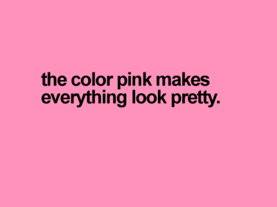 Personality Color Pink