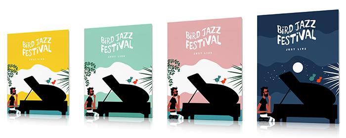 affiche jazz festival pianiste