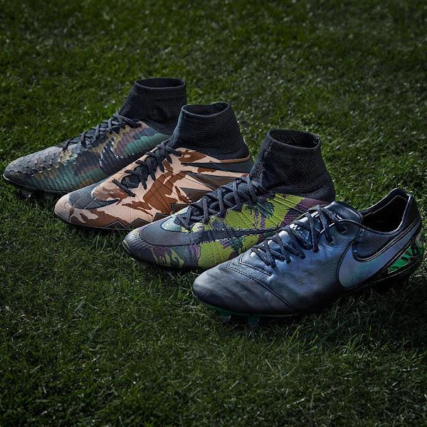 Nike lanza el Pack de botines Camo, con diseño camuflado