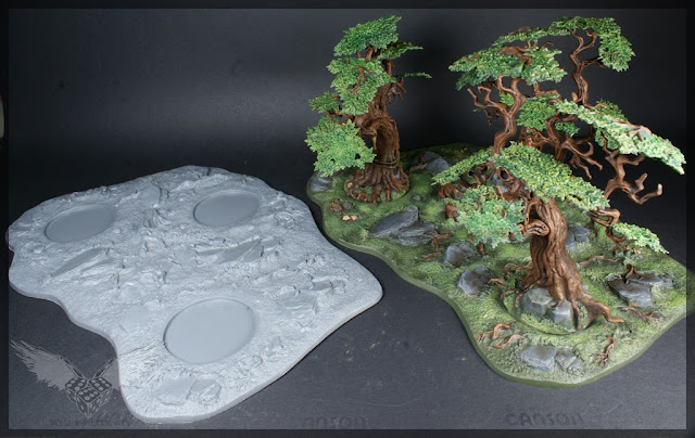 warhammer age of sigmar sylvaneth wyldwood painted forest scenery miniatures 5