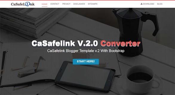 Premium Safelink Blogger Template - Casafelink v2.0