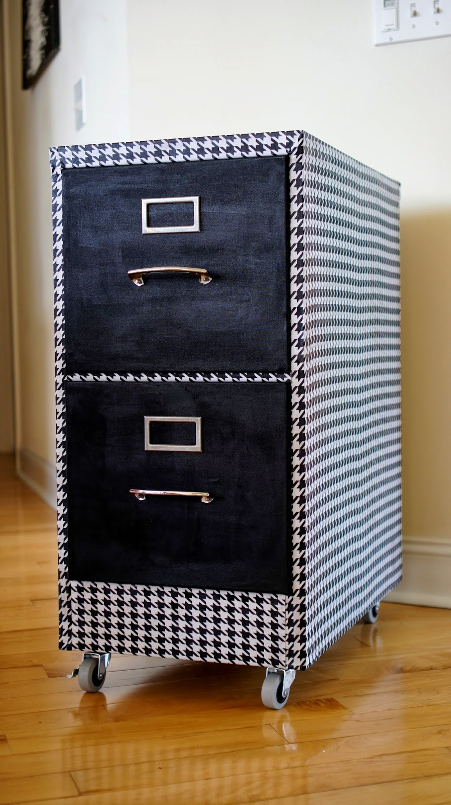 Food Fashion Home Fabric Covered Filing Cabinet Makeover