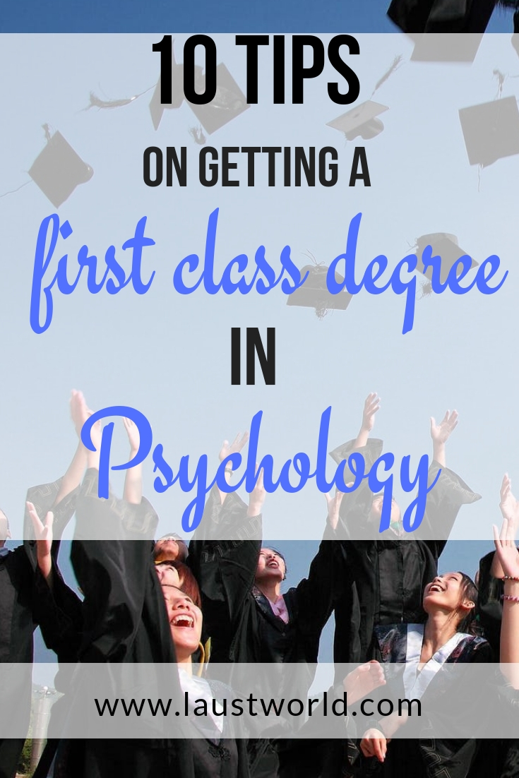 Pinterest graphic - tips on getting a first class degree