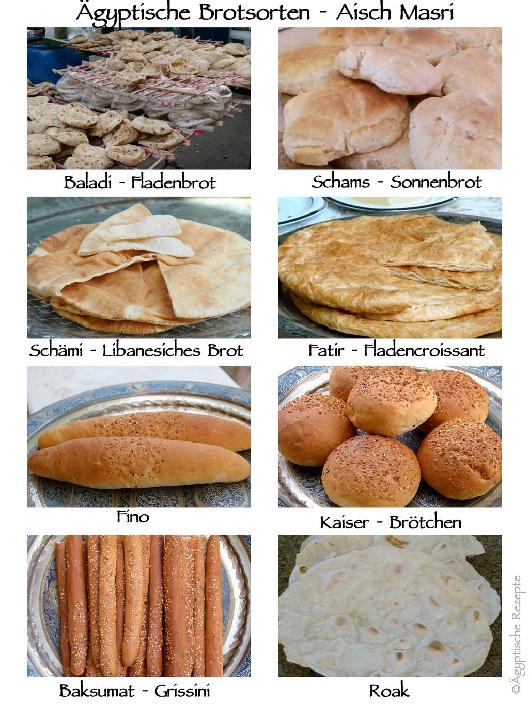 Ägyptische Brotsorten im Überblick