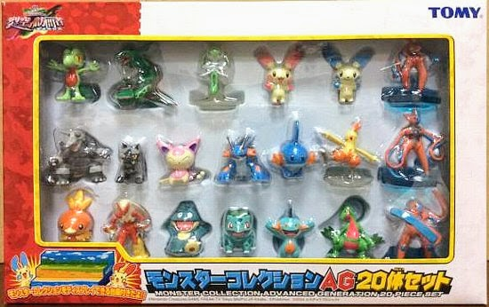 Aggron Pokemon figure Tomy Monster Collection AG 18 pcs set