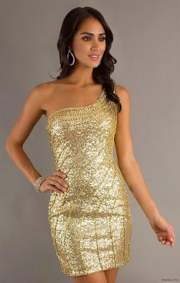 Vestidos de Fiesta Dorados