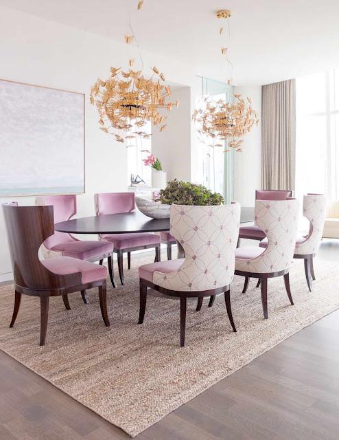 lilás na decoração