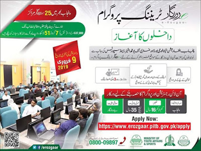 Online E-Rozgaar Training Program 2019 For Unemployed Youth