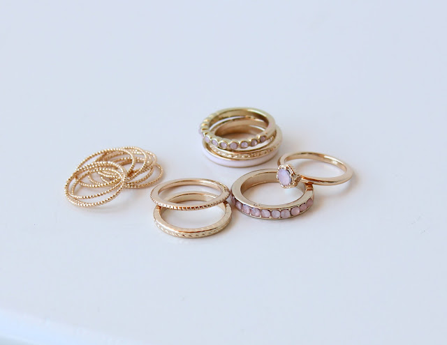 H&M ring sets, H&M stack rings, H&M gold rings