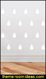 raindrop fabric wall decals rain theme bedroom wall decorations