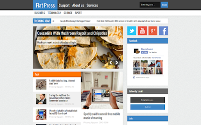 Flat Press Magazine Blogger Template