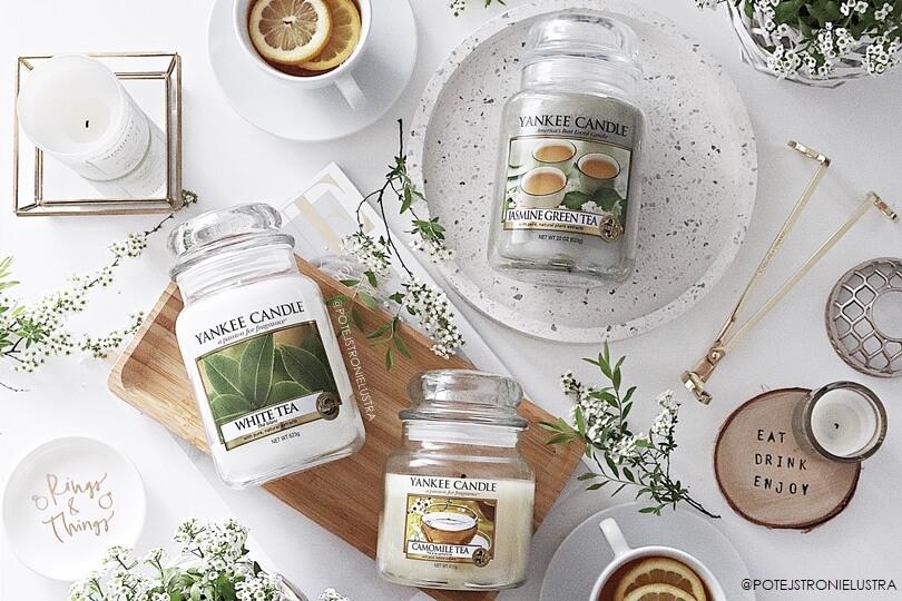 świece yankee candle o zapachu herbaty
