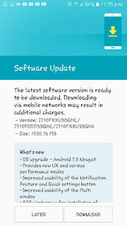 Samsung Galaxy J7 2016 gets Android 7.0 Nougat update in India