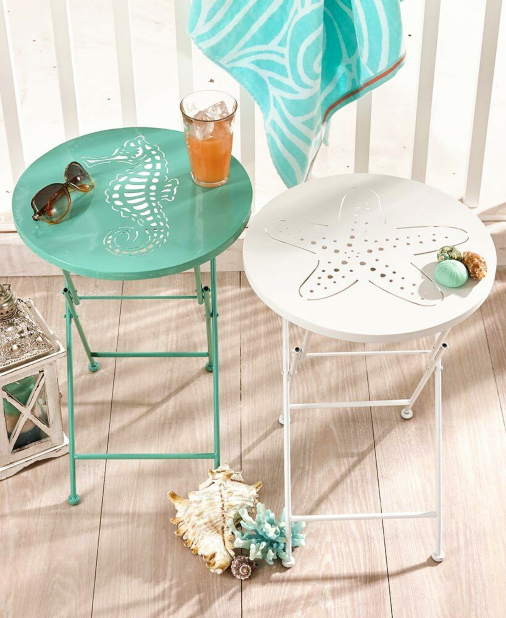 Coastal Metal Folding Tables