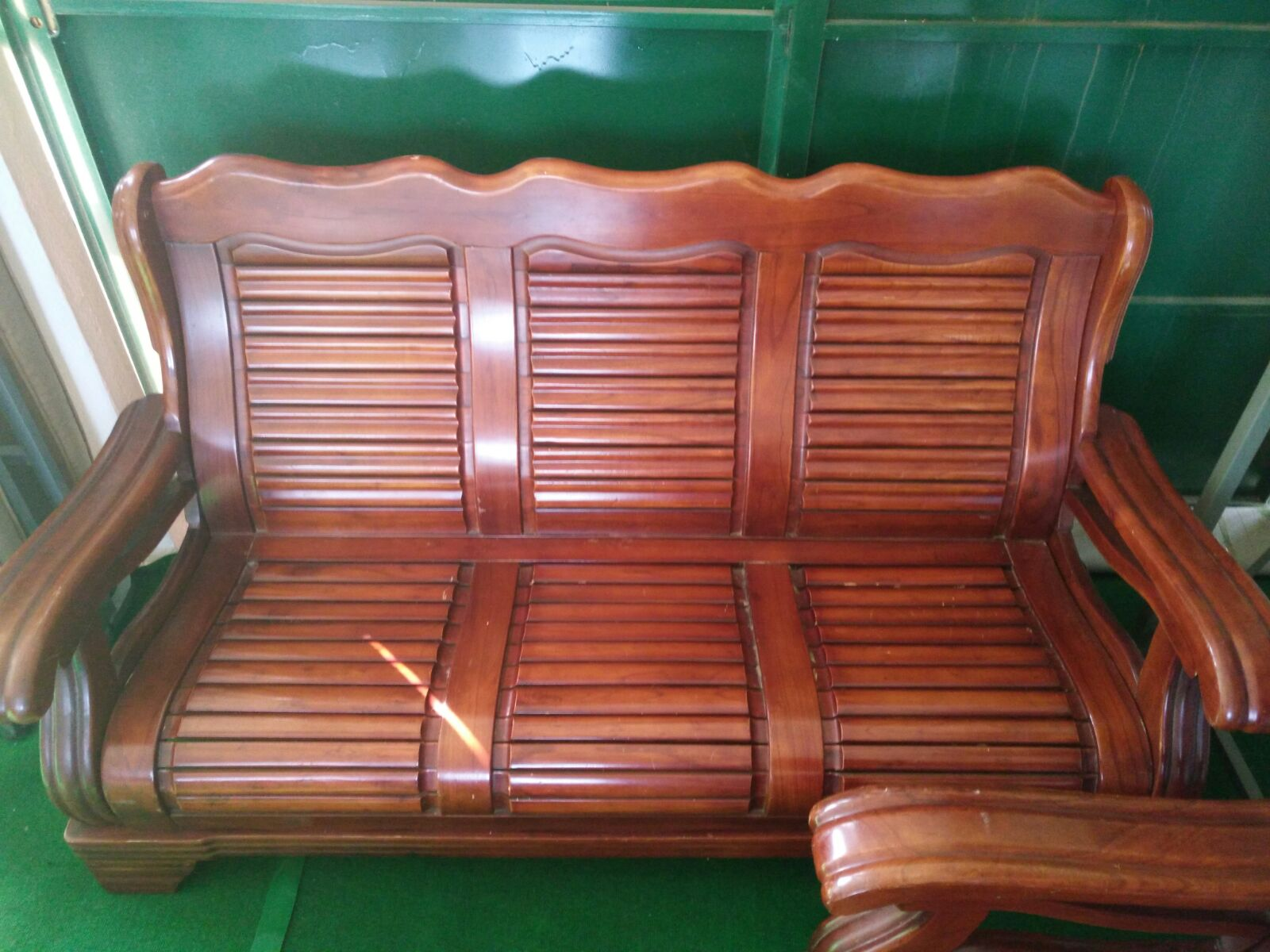 Kerusi Set Ruang Tamu Kayu Solid Padu
