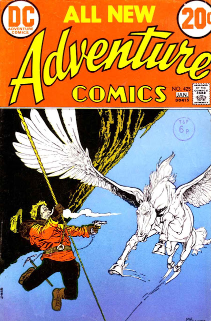 Adventure Comics v1 #425, 1972 dc bronze age comic book cover - 1st Captain Fear