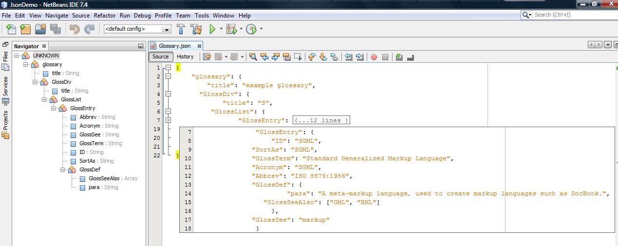 NetBeans 7 4 JSON Support - DZone Java