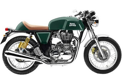 Royal Enfield Continental GT green side view