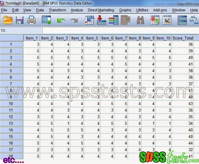 How to Test Validity questionnaire Using SPSS