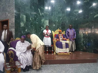 Obasanjo Visits Olu Of Warri At His Palace(photos)