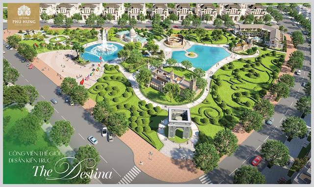 Công viên Thế Giới Di Sản Kiến Trúc - The Destina tại dự án đất nền Cát Tường Phú Hưng