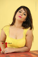 Cute Telugu Actress Shunaya Solanki High Definition Spicy Pos in Yellow Top and Skirt  0576.JPG