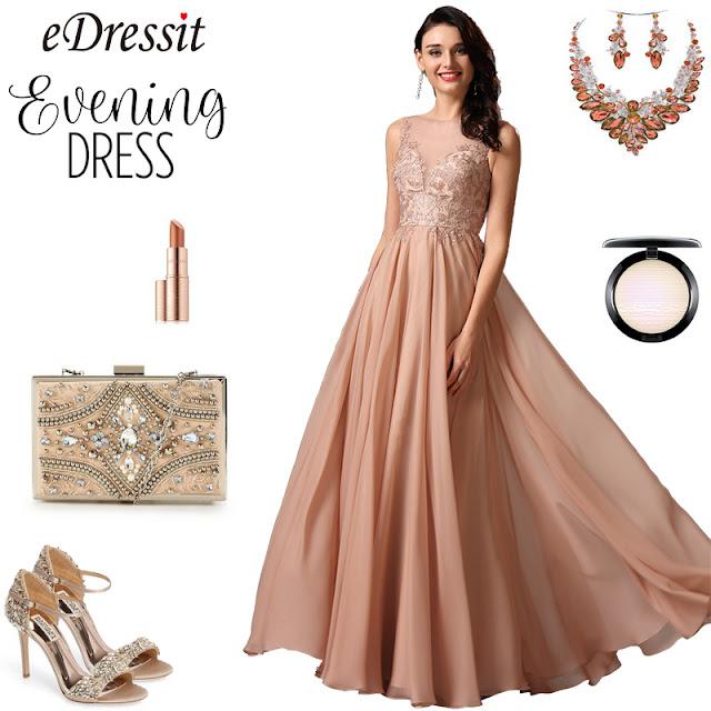 sleeveless plunging neckline rosy brown prom dress