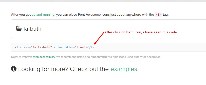 Font Awesome Icon Code